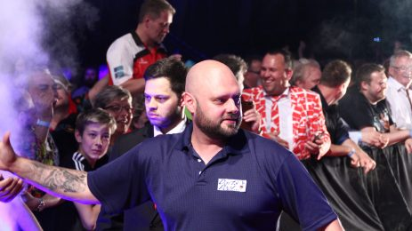 Dennis Nilsson will face local player at the European Darts Matchplay